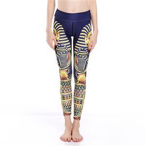 Classical Printed Yoga Leggings, High Waist Tight Yoga Pants, 3D Digital Printed Fitness Leggings, Stretchy Sport Leggings for Women, Ultra Soft Printed Workout Leggings, #L16243