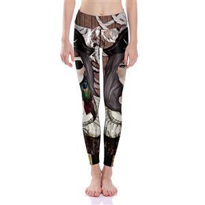 Classical Printed Yoga Leggings, High Waist Tight Yoga Pants, 3D Digital Printed Fitness Leggings, Stretchy Sport Leggings for Women, Ultra Soft Printed Workout Leggings, #L16244