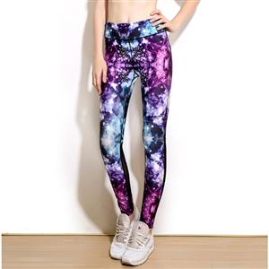 Classical Printed Yoga Leggings, High Waist Tight Yoga Pants, 3D Digital Printed Fitness Leggings, Stretchy Sport Leggings for Women, Ultra Soft Printed Workout Leggings, #L16245