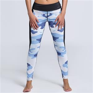 Classical Camouflage Printed Yoga Pants, High Waist Tight Yoga Pants, Fashion Camouflage Print Fitness Pants, Casual Stretchy Sport Leggings, Women