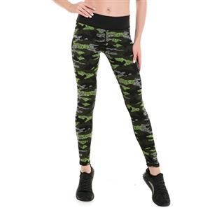 Classical Printed Yoga Leggings, High Waist Tight Yoga Pants, Camouflage Printed Fitness Leggings, Stretchy Sport Leggings for Women, Ultra Soft Printed Workout Leggings, #L16246