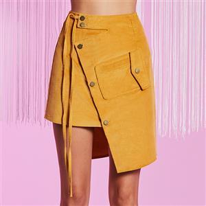 High Waist A-Line Skirt, Women