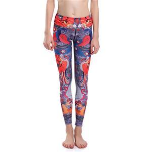 Classical Printed Yoga Leggings, High Waist Tight Yoga Pants, Popular Printed Fitness Leggings, Stretchy Sport Leggings for Women, Ultra Soft Printed Workout Leggings, #L16262