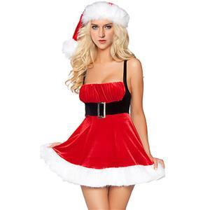 Santa Dress, Holiday Lingerie, Santa Lingerie, Christmas Santa Girl Costume, Sexy Santa Girl Lingerie, Christmas Cosplay Costume, Santa Girl Role Play, #XT2823