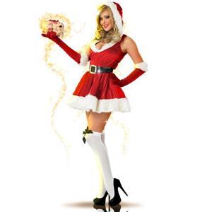 Hooded Velvet Mini Dress, Mini Dress Velvet, Hooded Santa Dress, Hooded Christmas Dress, #XT6377