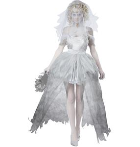 Ghostly Bride Costume, Dead Bride Costume, Ghost Bride Costume, Zombie Bride Costume, #N8719