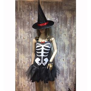 Sexy Halloween Costume, Hot Sale Scary Costume, Cheap Skeleton Costume, Women