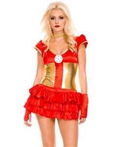 Hot Hero Costume, Hero Costume Red, Womens Hero Costume, #N6221
