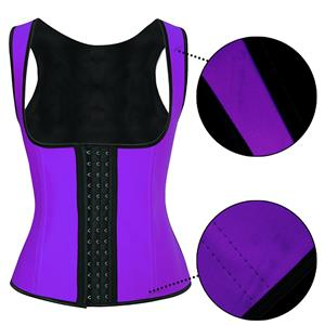 Purple Steel Bone Vest Corset, Latex Underbust Corset, Purple Underbust Corset, Women