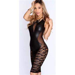 Hot Sexy Black Lace Sleeveless Clubwear Bodycon Dress N10063
