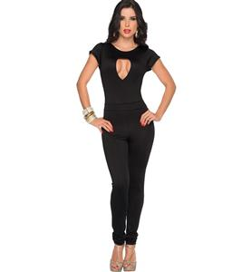 Sexy Black Pants Set, Cheap Milk Fiber Clothes, Women