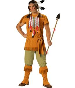 Indian Brave Adult Costume, Deluxe Men