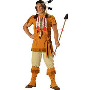 Indian Brave Adult Costume, Deluxe Men