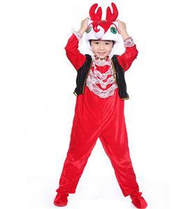 Joyous Red Deer Jumpsuit Romper N6298