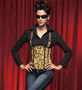 Underbust corset, Suspenders Underbust Corset, Flower Underbust Corset, Stylish Suspenders Underbust Corset, Sexy Clubwear Corset, #N2221