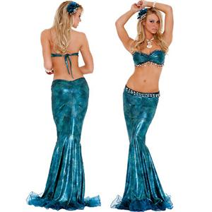 Lustful Mermaid Costume, Sea Diva Costume, Blue Mermaid Costme, #C2222