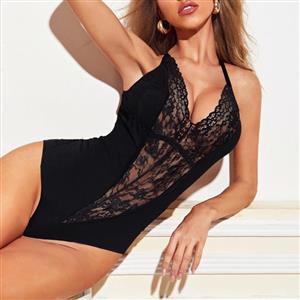 Flirty Bodysuit, Sexy Clubwear Stripper Striptease Bodysuit for Women, Sexy See-through Floral Lace Lingerie,Romper Lingerie for Women, Sexy Valentines Lingerie, Sexy Stretchy Bodysuit Lingerie, Sexy Sheer Lace Teddies Lingerie, #N5601