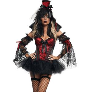 Vamp Bustier Set, Girl Vampire Costume, Girl Vampire Halloween Costume, #N1885