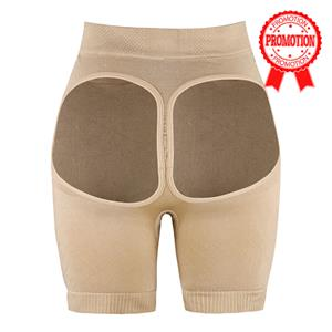 Ladies Sexy Beige Open Hip High Waist Panty PT10238