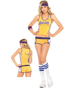 Lakers Player Uniform, LA Lakers Costume, NBA Costume, Cheerleader Costume, #N4412