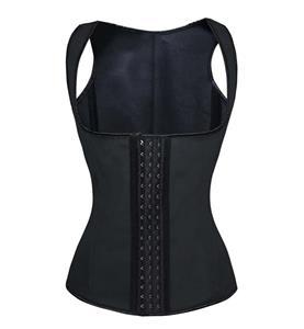 Latex Corset Vest, Cheap Black Underbust Corset Vest, Black Steel Boned Corset, Waist Cincher Corset, Plus Size Corset Vest, #N10730