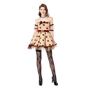 Minnie Mouse Costume for Women, Cartoon Character Costume, Cute Animal Costume, Cute Disney Mickey Mouse Costume, Halloween Costume for Women, Mini Dress Cosplay Costume, #N20742