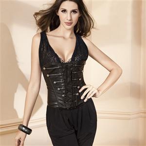 Leather Underbust Corset, underbust corset, corset, #N1438