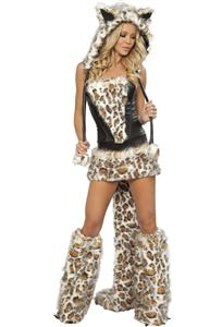 Leopard Corset, Skirt and Tail M1330
