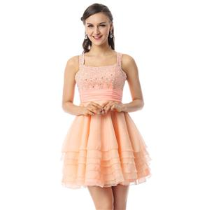 Pretty Light-Coral Dress, Cheap Prom Dresses, Homecoming Dresses under 300 on sale, Hot Selling A-line Sweet 16 Dresses, #Y30061