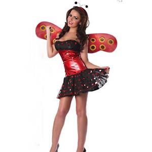 Tempting Lady Bug Costume, Sexy Lady Bug Costume, Lady Bug Costume, #N6177