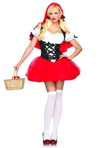 Racy Red Riding Hood Costume, Red Riding Hood Outfit, Red Riding Hood Costume, #M3273