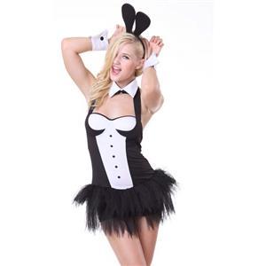 Mickey Costume, Lovely Costume, Cheap Halloween Costume, Black and White Costume, Girls Costume, #N9955