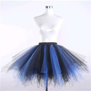 Gothic Corset Skirt, Gothic Cosplay Skirt, Halloween Costume Skirt, Gothic Organza Short Skirt, Elastic Skirt, Irregular Cropping Skirt, Lovely Tutu Skirt, #HG20206