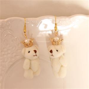 Retro Alloy Earrings, Gothic Style Earrings, Fashion Polar Bear Earrings for Women, Vintage Earrings, Casual Alloy Earrings, Victorian Gothic Earrings, Fashion Little Bear Earrings, #J18435