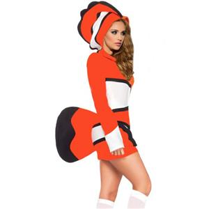 Cozy Orange Fish Costume, Cute Halloween Costume, Under the Sea Costume,  #N11059