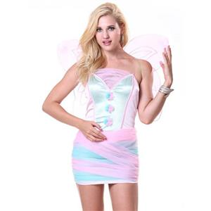 Lovely Butterfly Dress, Cheap Pink Mini Dress, Lady Bodycon Dress, Butterfly Costume, Halloween Costume, #N10080
