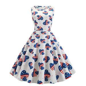 Sexy A-line Swing Dress, Retro Hepburn Dresses for Women 1960, Vintage Dresses 1950