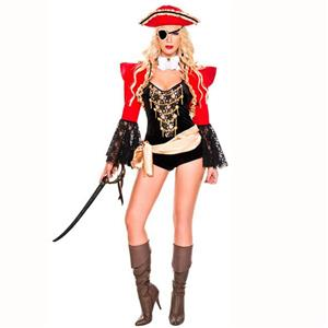 Sexy Pirate Costume, Deluxe Halloween Costume, Pirates Fancy Romper Costume, Cheap Women