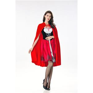 Luxury Red Riding Hood Adult Cosplay Halloween Costume N17991