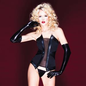 Lycra Lined Power Mesh Bustier N8437