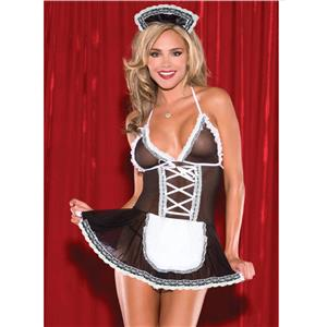 Flirty Servant Maid Costume, French Maid Outfit, Sexy French Maid Costume, Maid Babydoll Lingerie Cosplay, French Maid Babydoll Lingerie, #N16625