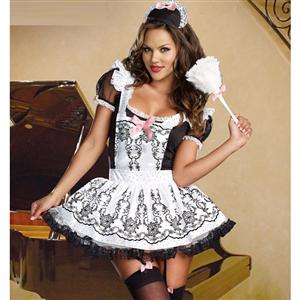 Maid To Order Costume, Sexy Maid Apron Dress, Paris Maid Costume, #N4416