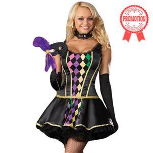 Mardi Gras Masquerade Costume, Harlequin Costume, Jester Costume, #N2088