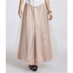 Chiffon Long Skirt, Tulle Maxi Long Skirts, Pink Maxi Long Skirt, #HG11225