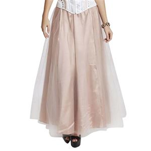Maxi Long Pink Tulle Skirt HG11225