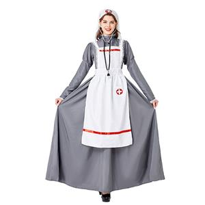 Traditional House Maid Costume, French Maide Costume, 2 Piece Maiden Cosplay Costume, Black and White Maid Costume, Halloween Maid Cosplay Adult Costume, Medieval Pastoral Outfit, #N20737