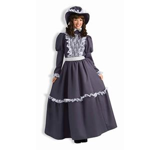 Vintage Medieval Renaissance Ladies Costume, Gray Medieval Ladies Maxi Dress, Women