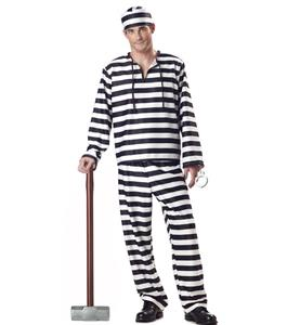 Hot Sale Halloween Costume, Cheap Prisoner Costumes, Men