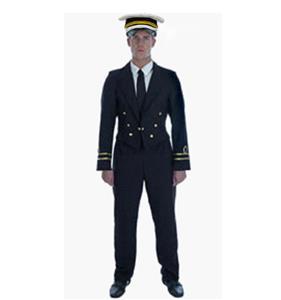 Mens Retro Pilot Costume, Airline Costume, Pilot Halloween Costume, #N5085