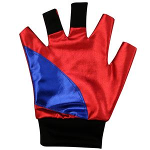 Harley Quinn Costume Glove, Metallic Glove, Red Glove, #HG12705